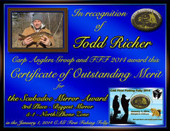 Todd Richer - FFF 2014 Scubadoc Mirror Award - Big Mirror - North Zone - 3rd
