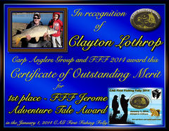 Clayton Lothrop - FFF 2014 Jerome Adventure Tale Award - Best FFF Written Summary - 1st