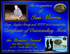 Ian Morris - FFF 2014 Monster Award - Big Fish - North Zone - 2nd