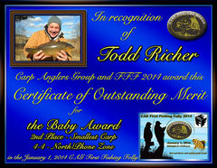 Todd Richer - FFF 2014 Baby Award - Small Fish - North Zone - 2nd