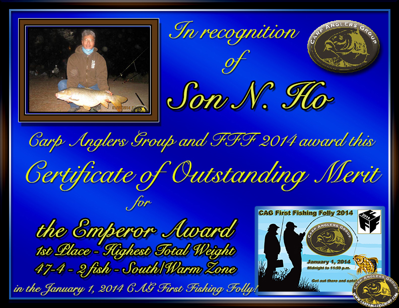 Son N. Ho - FFF 2014 Emperor Award - High Total Weight - South Zone - 1st