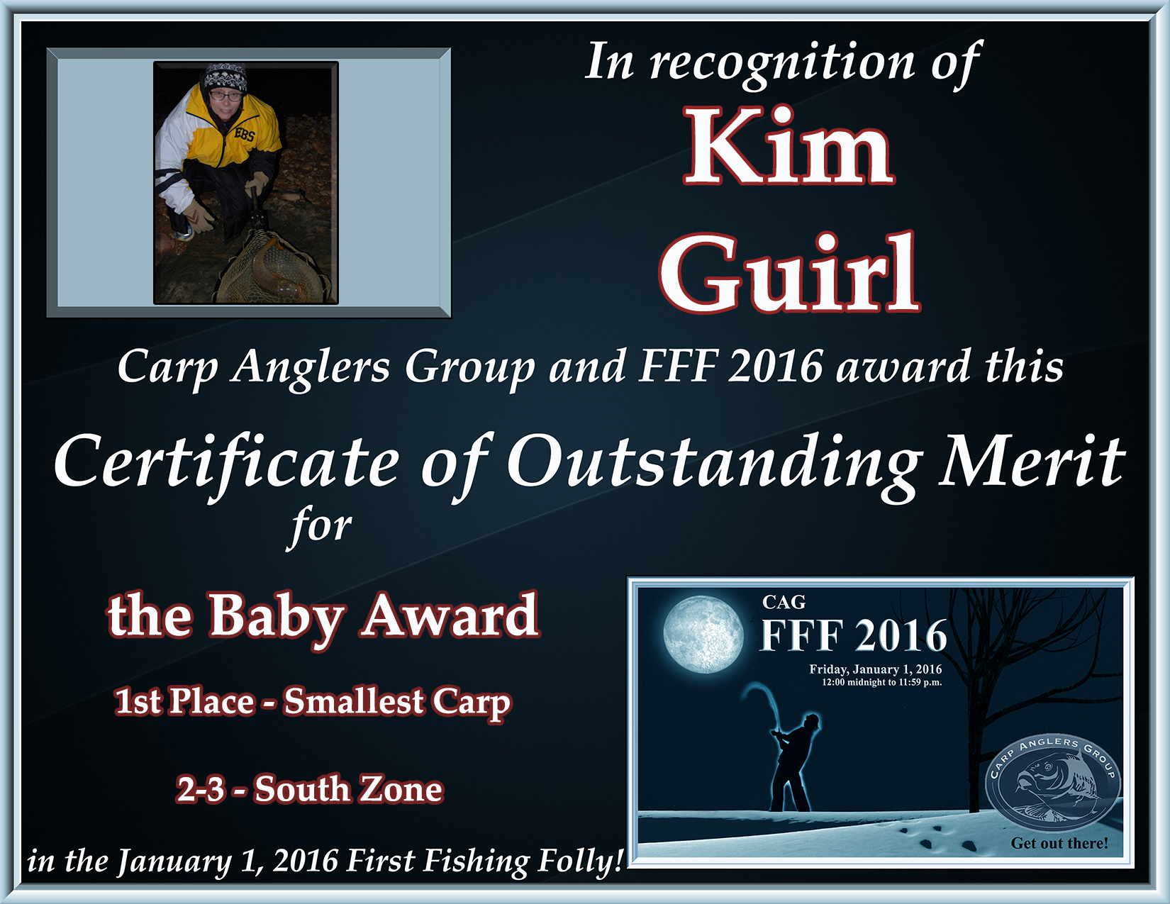fff2016 cert baby guirl 1st south