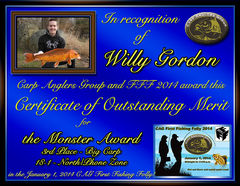 Willy Gordon - FFF 2014 Monster Award - Big Fish - North Zone - 3rd
