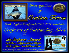 Cristian Torres - FFF 2014 Emperor Award - High Total Weight - South Zone - 2nd