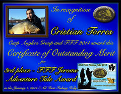 Cristian Torres - FFF 2014 Jerome Adventure Tale Award - Best FFF Written Summary - 3rd