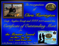 Chris Harrington - FFF 2014 Monster Award - Big Fish - South Zone - 3rd