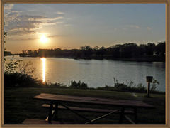 """Lake Storey - Sunset - """"Big Fish"""" Campground Site - Galesburg, IL - Dr. Frank Rink"""